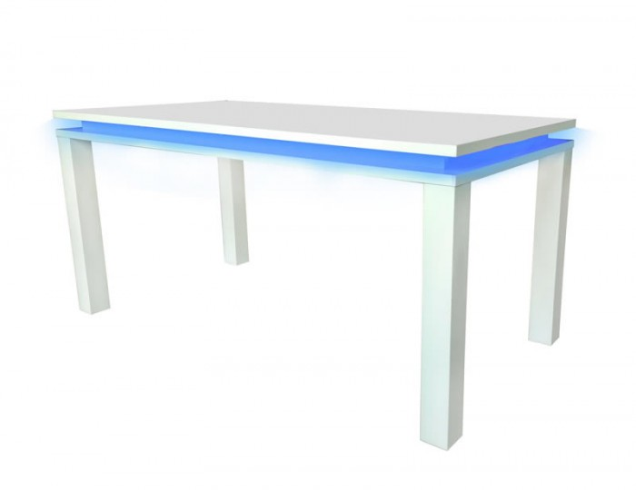 Siena High Gloss LED Dining Table