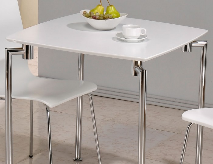 Dove Square White Breakfast Table