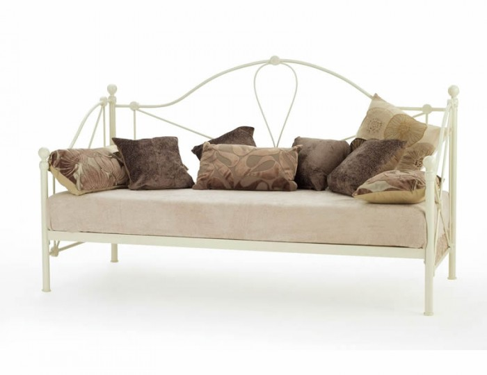 Lyon 3ft Ivory Metal Day Bed