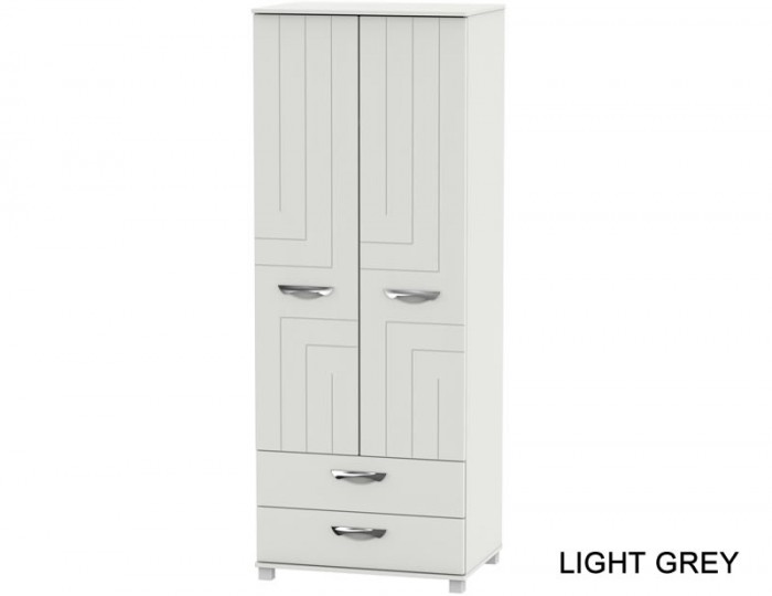 Somerset Tall 2 Door 2 Drawer Wardrobe