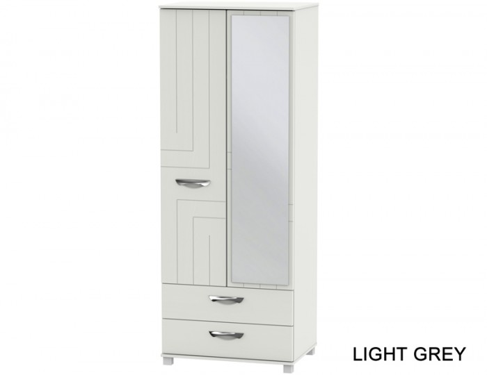 Somerset Tall 2 Door 2 Drawer Mirror Wardrobe