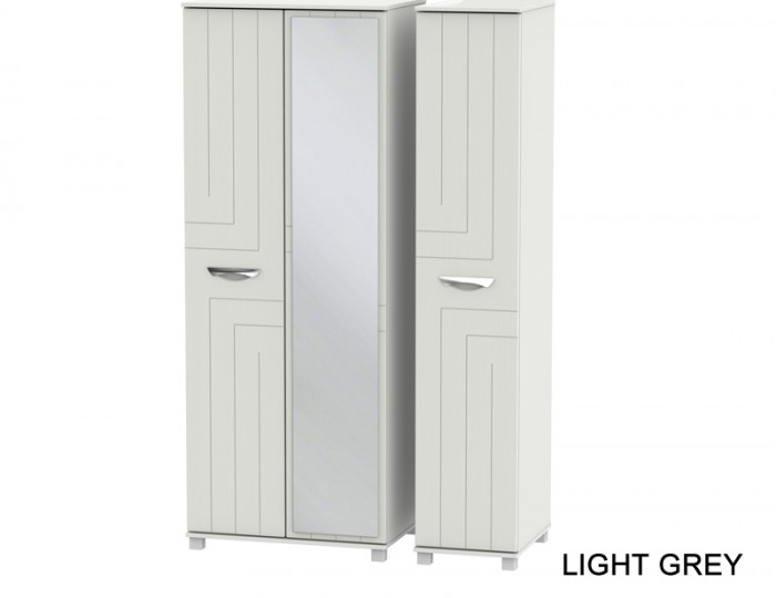 Somerset Tall 3 Door Mirror Wardrobe