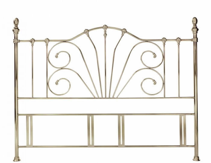 Rebecca Antique Brass Metal Headboard