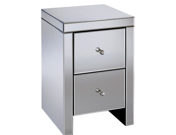 Giralda Mirrored 2 Drawer Bedside Chest