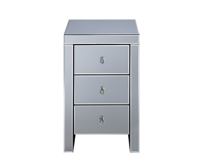Giralda Mirrored 3 Drawer Bedside Chest