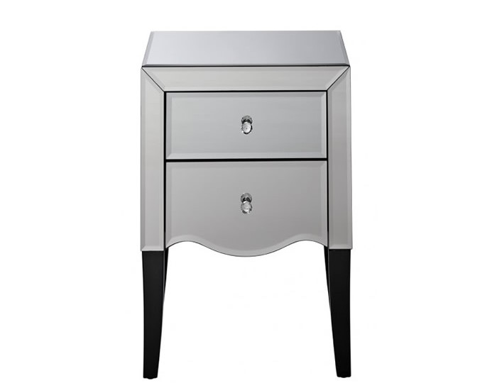 Palermo Mirrored 2 Drawer Bedside Chest