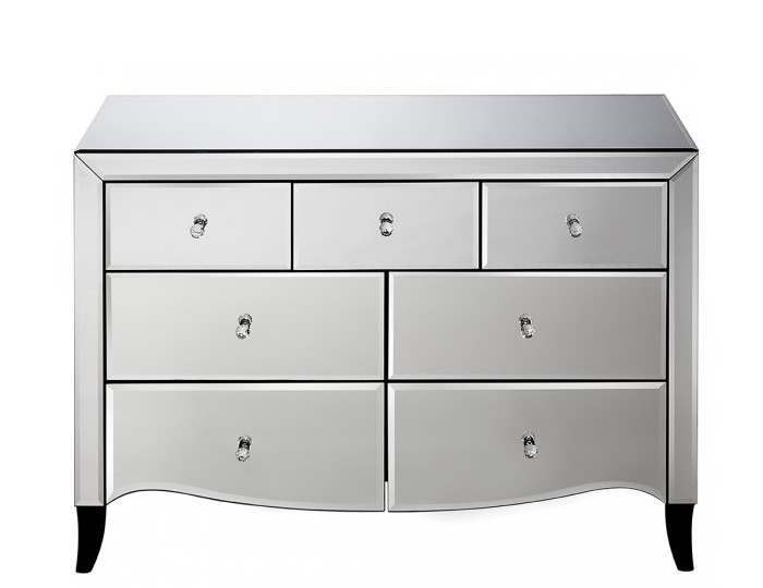 Palermo Mirrored 3+4 Drawer Chest