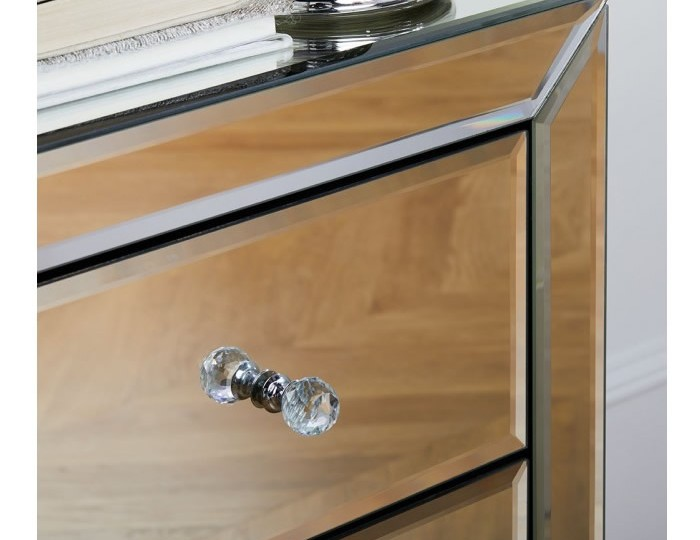 Palermo Mirrored 5 Drawer Narrow Chest
