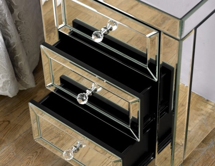 Valencia Mirrored 5 Drawer Narrow Chest