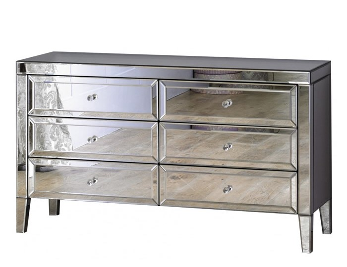 Valencia Mirrored 6 Drawer Chest
