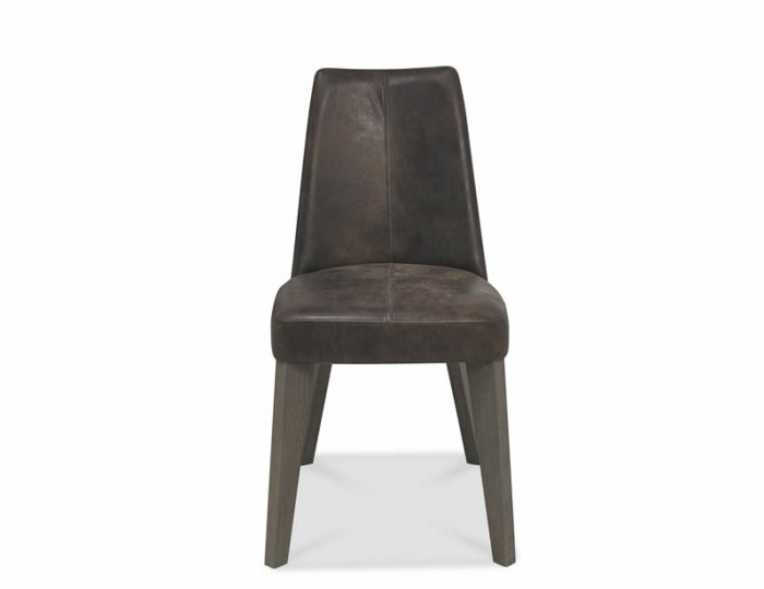 Cadell Oak And Brown Leather Upholstered Dining Chair Set of 2 *Special Offer*