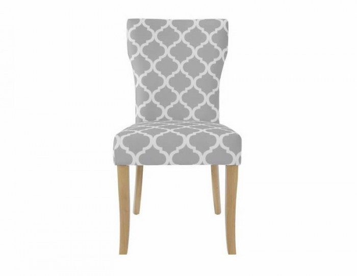 Wincott Grey and White Fabric Dining Chair *Special Offer*