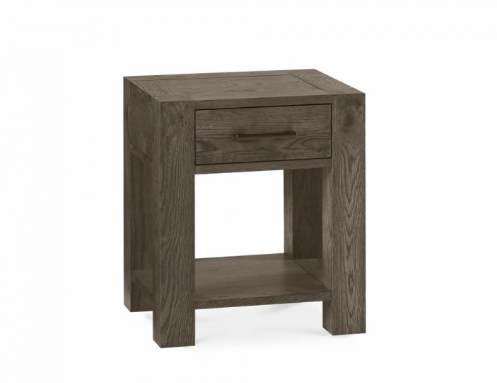 Ventura Dark Oak Lamp Table with Drawer