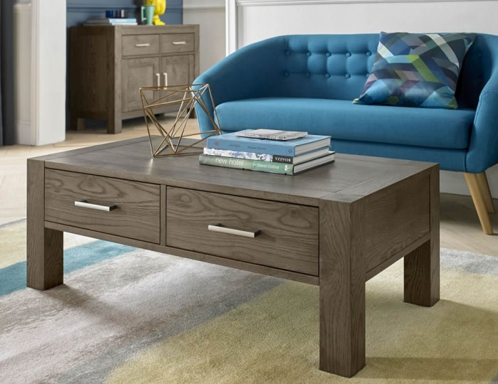 Ventura Dark Oak Coffee Table with Drawers
