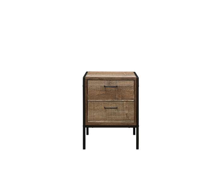 Ashvale Urban Wooden 2 Drawer Bedside