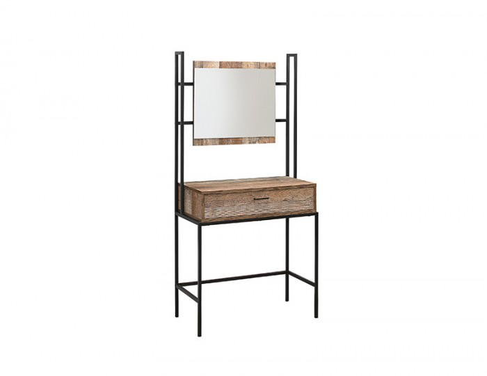 Ashvale Single Urban Wooden Dressing Table With Mirror