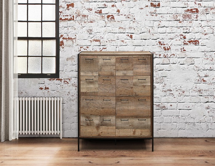 Ashvale Urban Wooden 12 Drawer Dresser