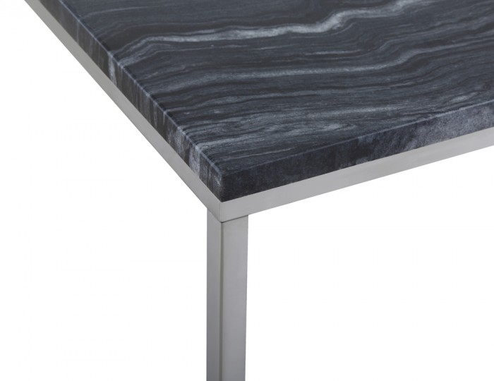 Mulberry Marble and Chrome Coffee Table