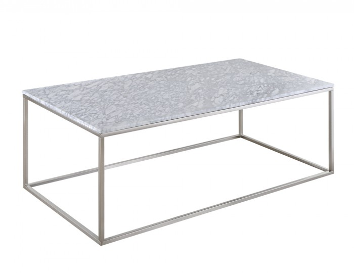 Mulberry Marble and Nickel Coffee Table