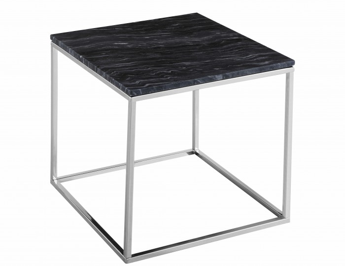 Mulberry Marble and Chrome Lamp Table