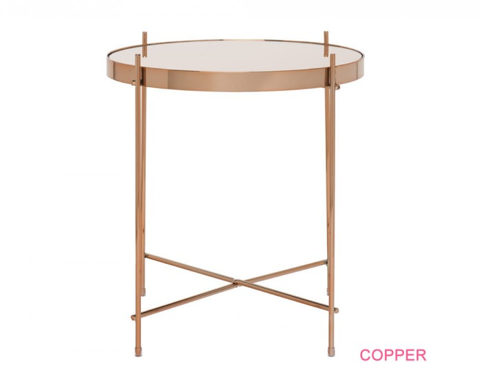 Oakmore Glass Circular Lamp Table