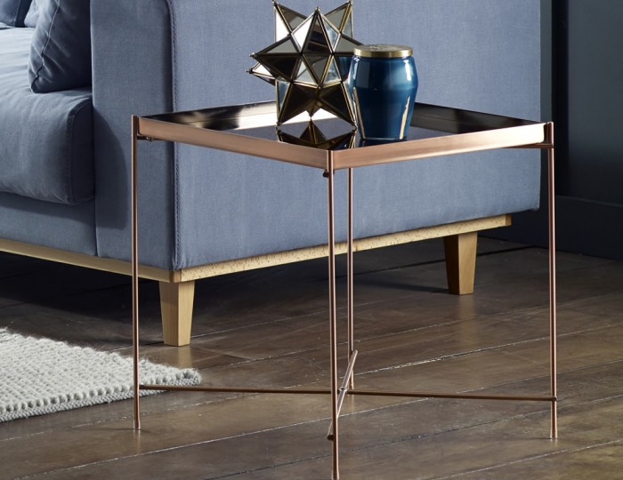 Oakmore Glass Square Lamp Table