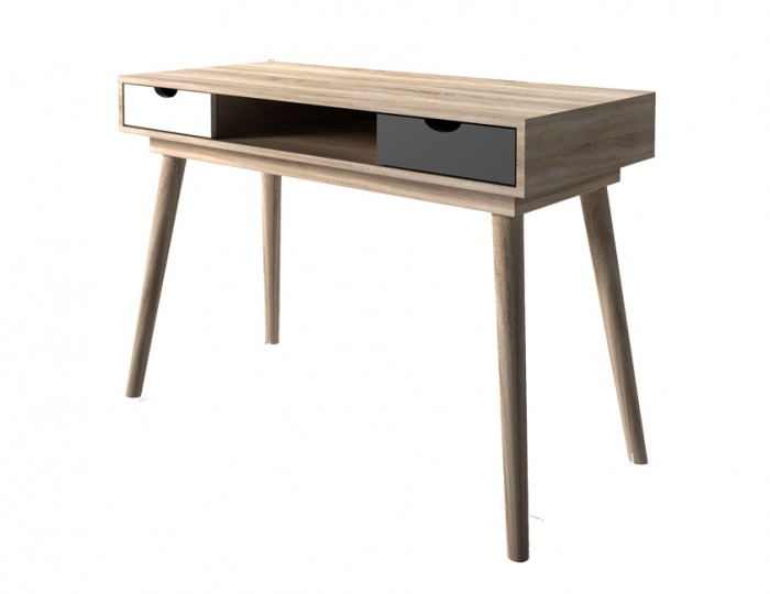 Scandi Oak Effect Two Drawer Desk