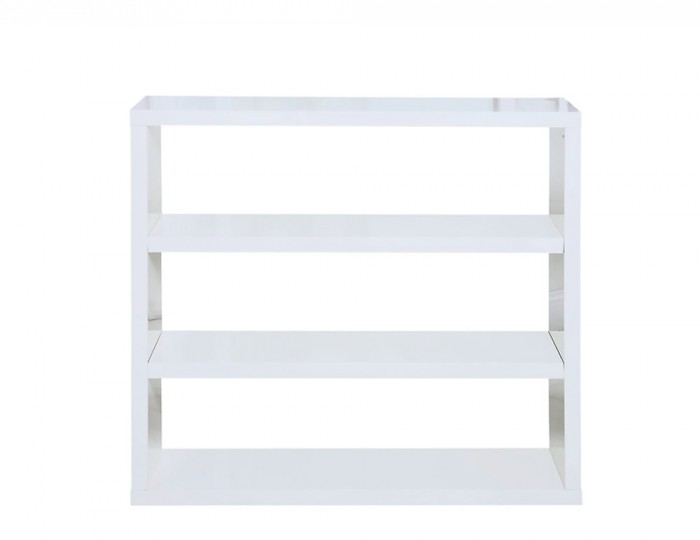 Puro White High Gloss Bookcase