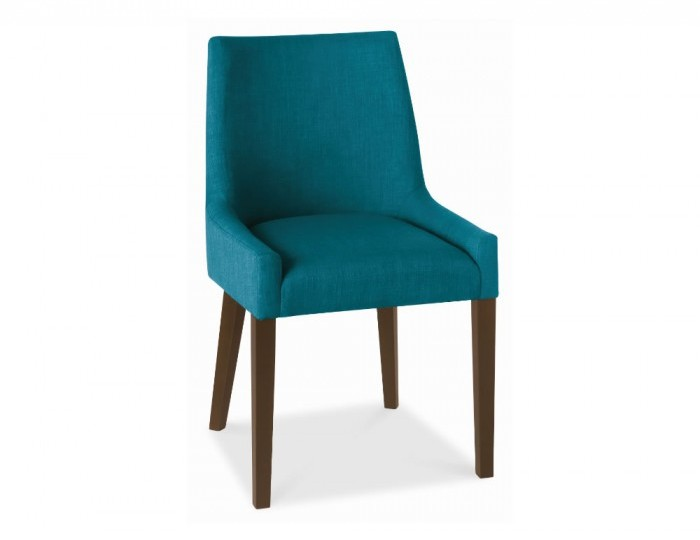Ella Walnut And Teal Upholstered Dining Chairs *Special Offer*