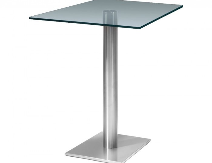 Turin Square Clear Glass Kitchen Table *Special Offer*