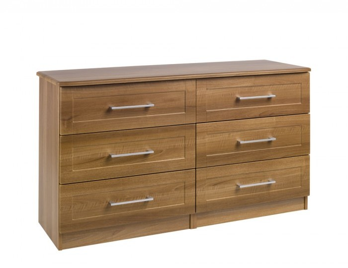 Marcello Walnut 6 Drawer Wide Chest *Special Offer*