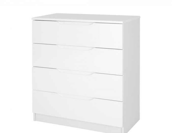 Trend 4 Drawer White High Gloss Chest *Special Offer*
