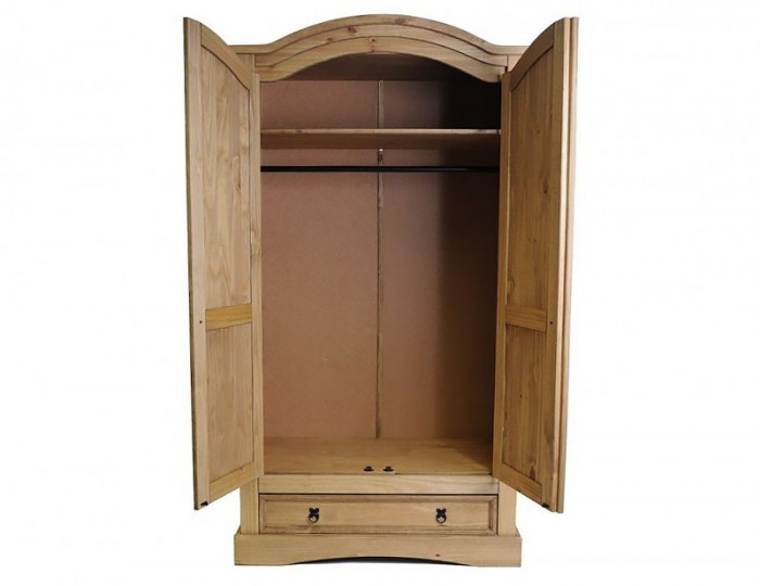 Desperados 2 Door 1 Drawer Pine Wardrobe
