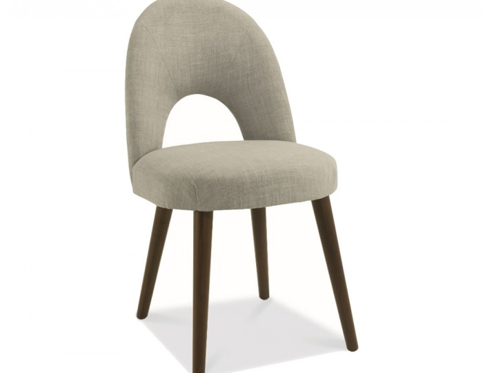 Oslo Linen Upholstered Walnut Dining Chairs *Special Offer*