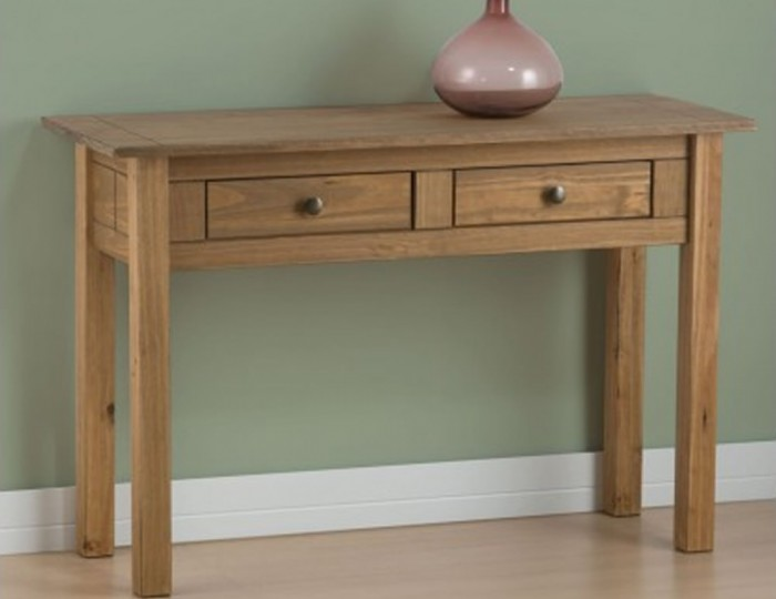 Calama Rustic Pine Console Table