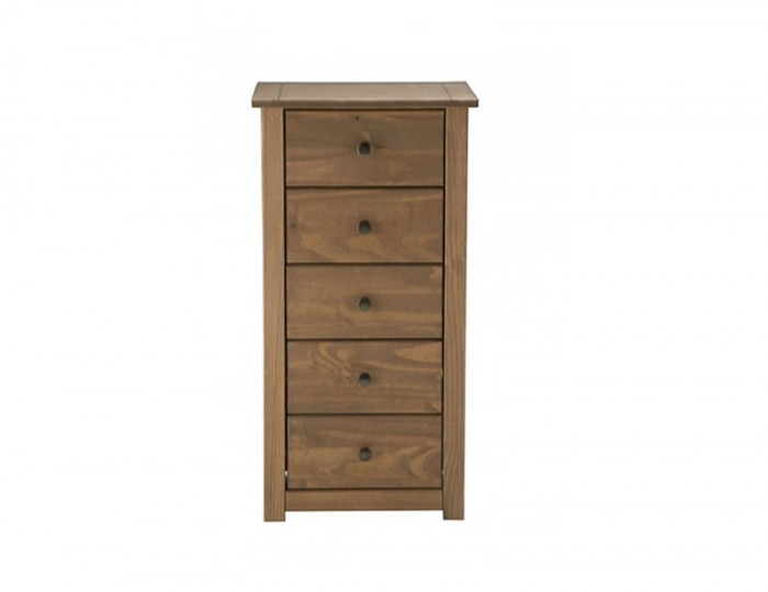 Calama Rustic Pine 5 Drawer Tallboy