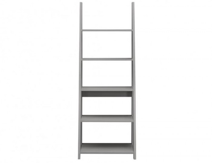 Nordic Grey Ladder Bookcase