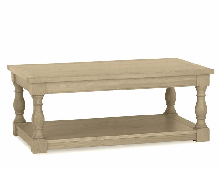 Chartreuse Aged Oak Coffee Table