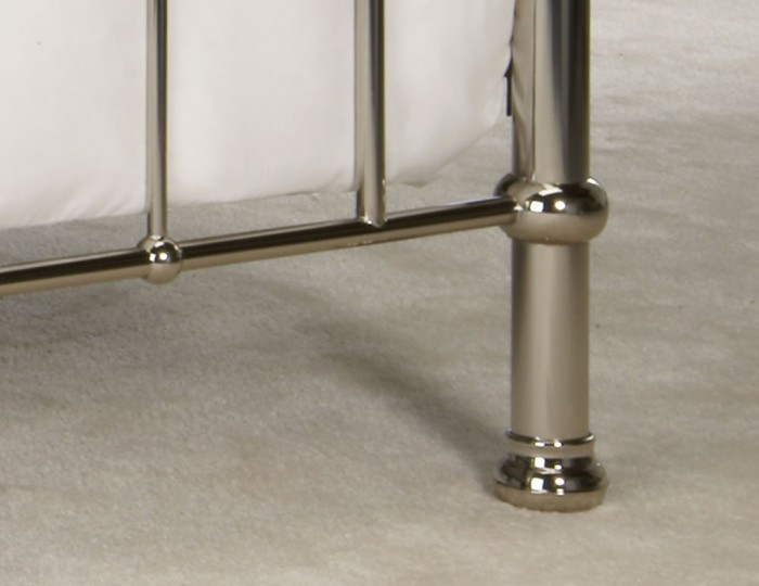 Hercules Chrome Metal Bed Frame