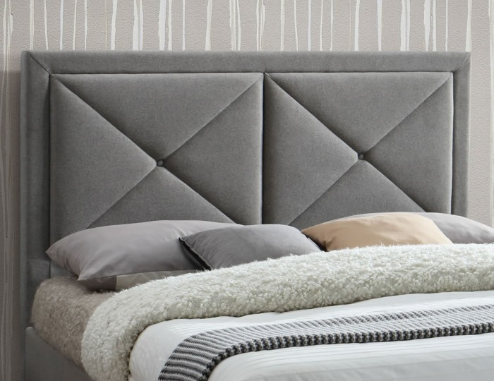 Bouffan Grey Marl Upholstered Storage Bed Frame