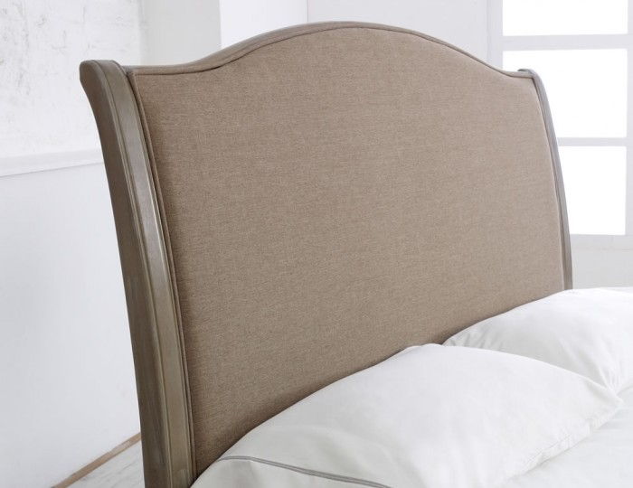 Nanterre Biscuit Upholstered Bed Frame