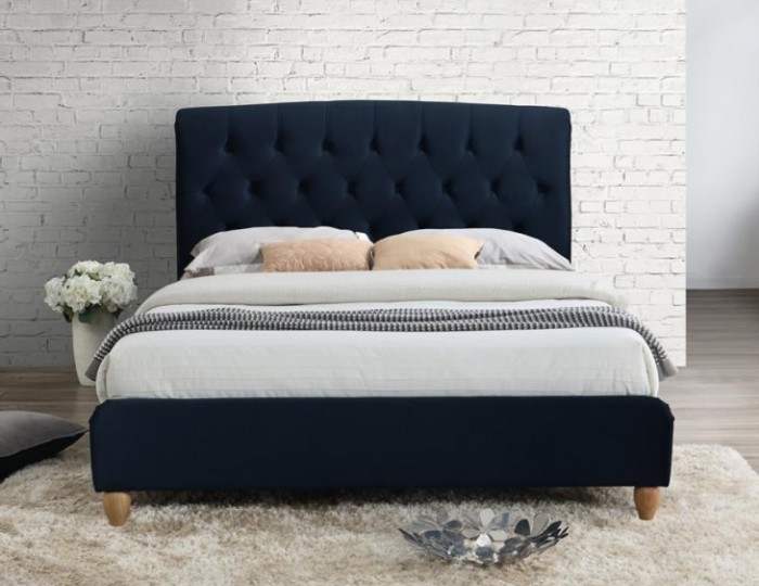 Catterick Midnight Blue Upholstered Bed