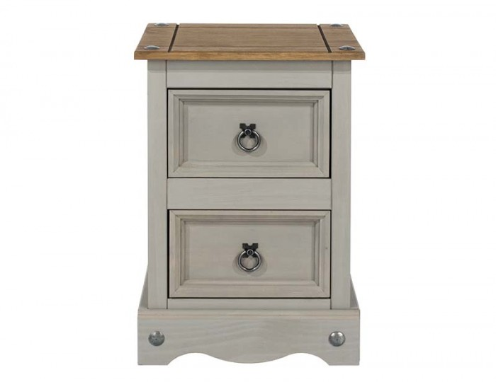 Estrella Grey 2 Drawer Bedside Chest
