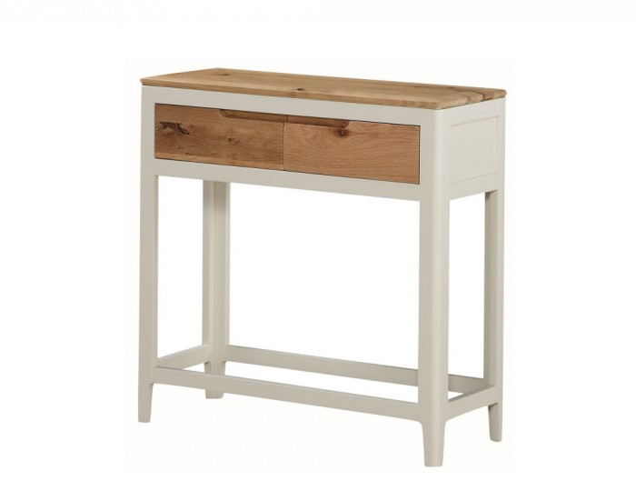 Dunmore Spanish White and Oak Large Console Table