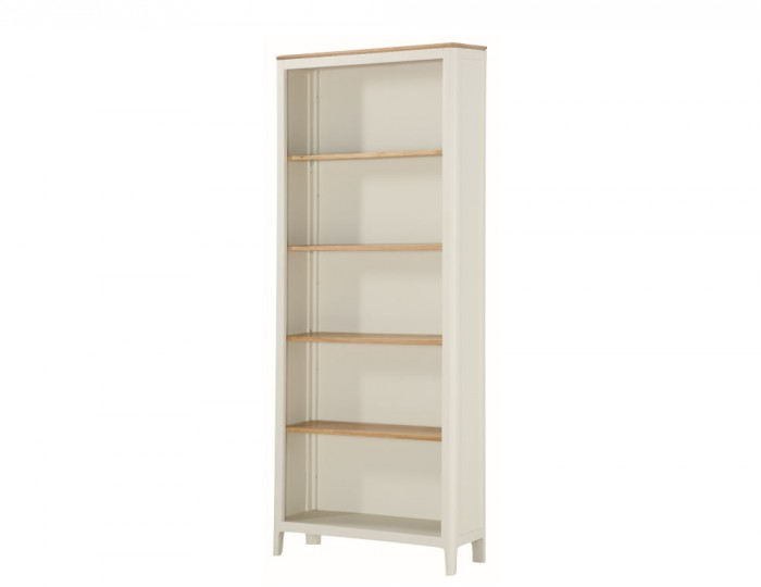 Dunmore Spanish White and Oak Tall Bookcase