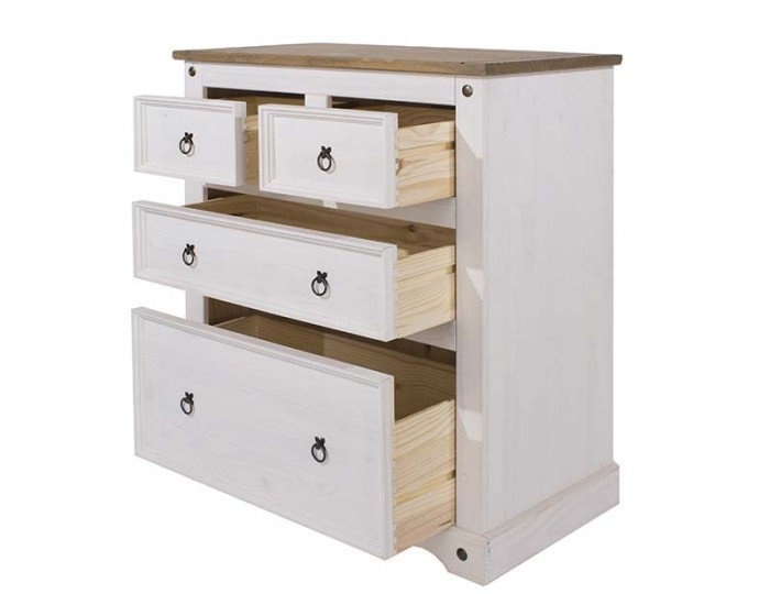 Estrella White 2+2  Drawer Chest