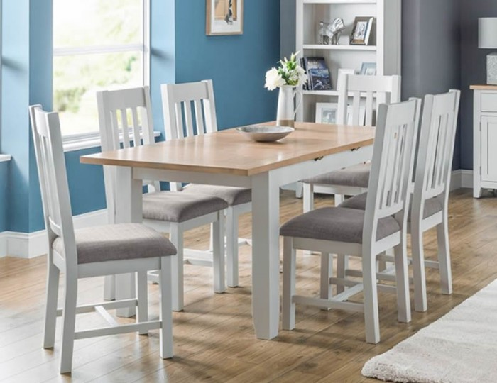 Vineyard Grey Two-Tone Extending Dining Set