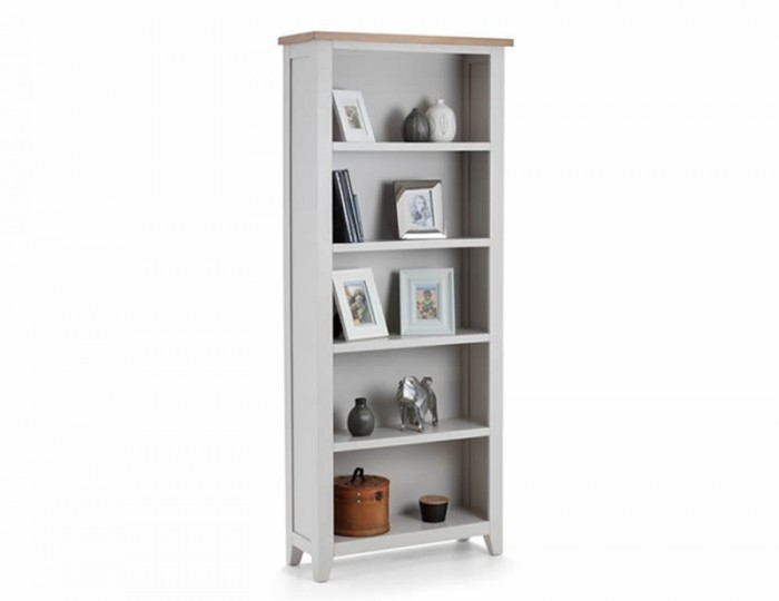 Vineyard Grey Two-Tone Bookcase