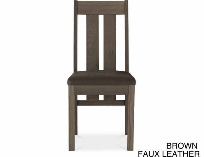 Ventura Dark Oak Slatted Dining Chairs
