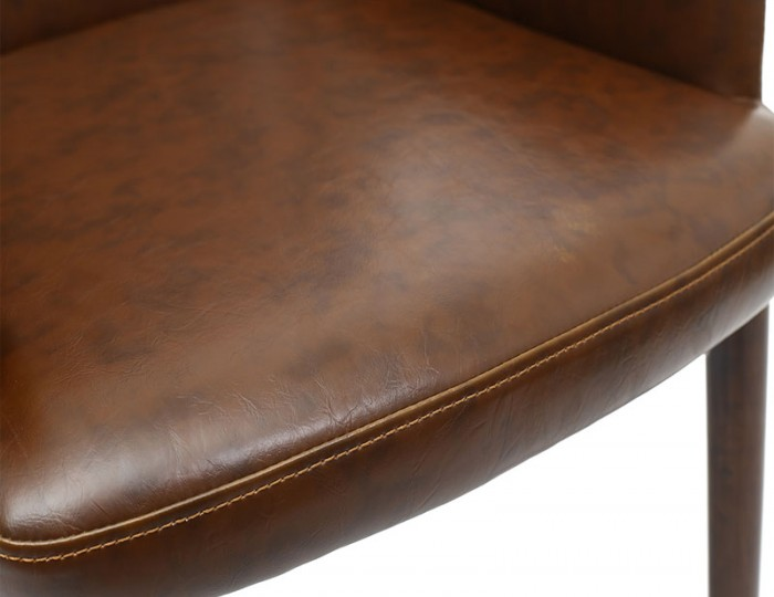 Eastwood Vintage Brown Leather Dining Chair